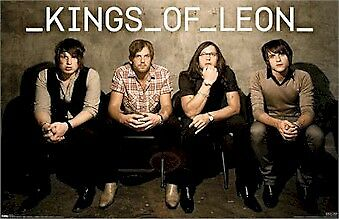 KINGS OF LEON ~ SITTING GROUP POSTER 22x34 Music Rock Caleb Followill NEW/ROLLED