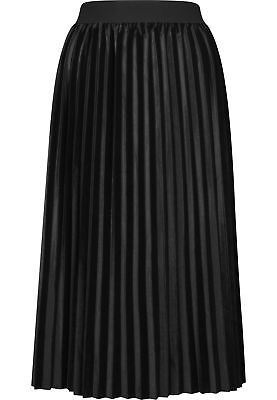 Urban Classics Ladies Velvet Plisse Skirt Streetwear Vestito Gonna Donna