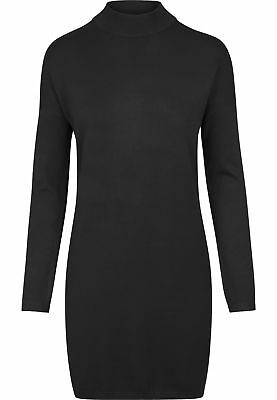 Urban Classics Ladies Oversized Turtleneck Dress Streetwear Vestito Gonna Donna