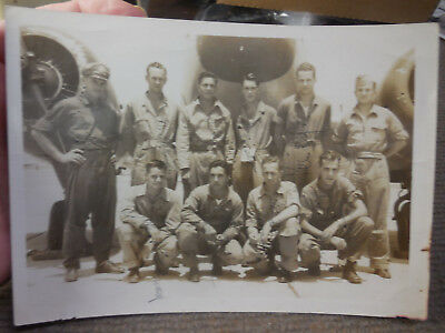 Vintage WW II US Army Air Forces B/W Air Crew Photograph