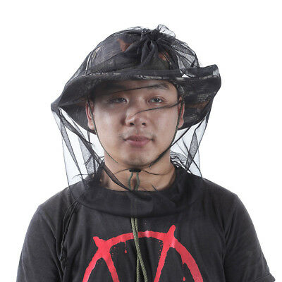 55 x 40cm Double End Open Durable Mosquito Insect Hat Net Head Mesh Fishing