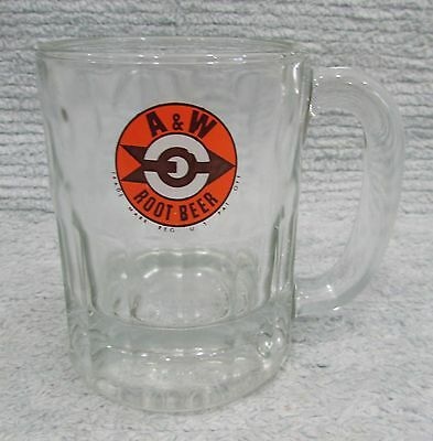 "Vintage A&W Restaurant Root Beer Old Mama Size Glass Mug 4-1/2"" Tall FREE S/H"