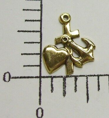 36691   12 Pc Antique Gold Faith Hope & Charity Cross Jewelry Finding Charm SALE
