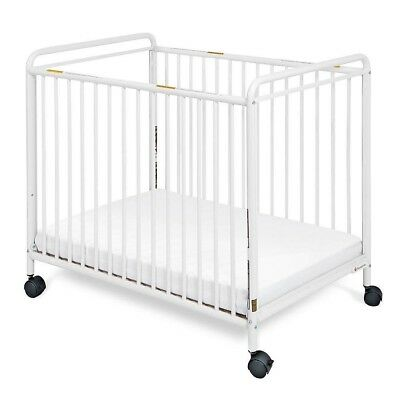 Foundations traditional steel compact crib with clear ends