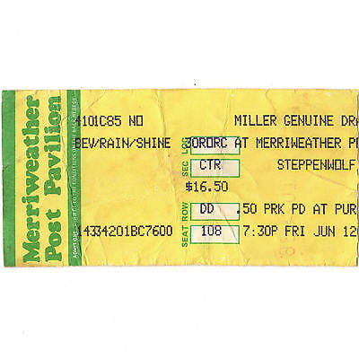 BLUE OYSTER CULT & STEPPENWOLF & FOGHAT Concert Ticket Stub 6/12/97 COLUMBIA MD