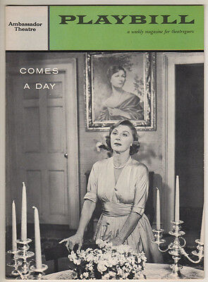"""Judith Anderson Playbill """"Comes A Day"""" 1958  FLOP"""