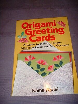 ORIGAMI GREETING CARDS HOW TO GUIDE BOOK by ISAMU ASAHI ~ EXC