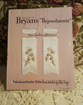 Vintage Bryans Bejewelments Fabulous Garter Fobs Detailed by Ellen Troy