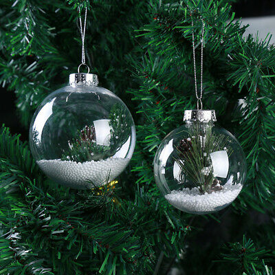 Super Clear Plastic Balls DIY Christmas Tree Hanging Bauble Decoration Ornaments