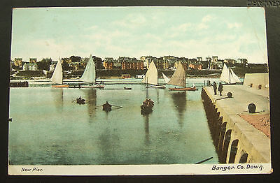 Postcard : Northern Ireland, New Pier, Bangor, County Down : Posted 1906