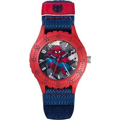 Official Licensed Marvel Spider-Man Character Blue and Red Analogue Watch