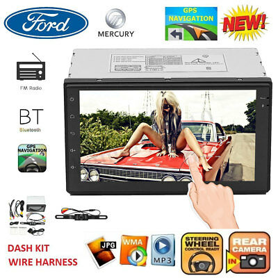 """7"""" HD Bluetooth Touch Screen Car Stereo Radio 2 DIN FM/MP5/USB/AUX with Camera"""