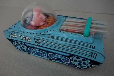 Weltraum Blech Panzer um 1960 Tin Toy Space Tank China MF 710