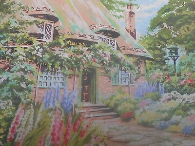 "Penelope ""Dovecote Cottage Garden"" Printed Tapestry Canvas"