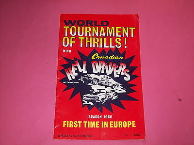 August 1966 Canadian Hell Drivers Year Book Tournament of thrills !!