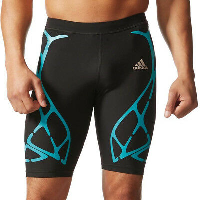 Adidas Adizero SprintWeb Mens Short Running Tights - Black