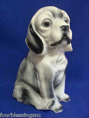 "Vtg. Chalkware Sitting Dog 10"" Bank-Spaniel Breed-1950's-Unmarked"