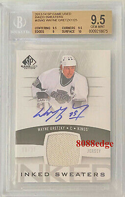 2013-14 Sp Game-Used Inked Swatch Auto: Wayne Gretzky #10/25 Autograph Bgs 9.5
