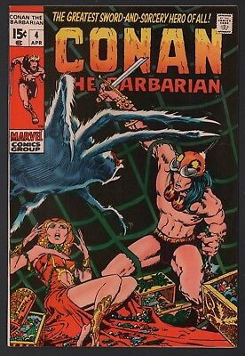 Conan the Barbarian #4 NM- 9.2 Off White Pages