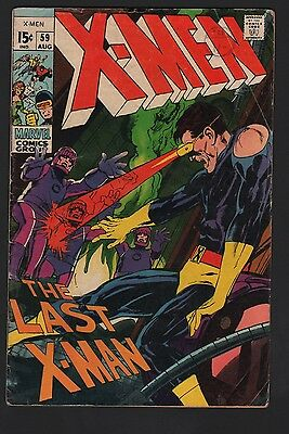 X-Men #59 VG- 3.5 Off White Pages Sentinels