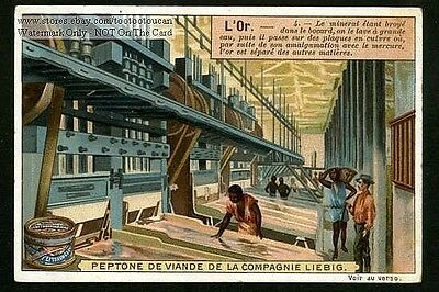 South African Gold Processing Plant c1900 Trade Ad Card