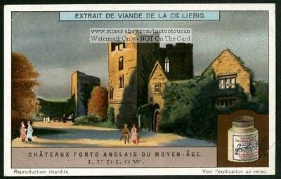 Ludlow Castle Britain England History 1920s Trade Ad Card
