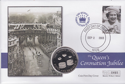 2003 First Day Coin Cover Coronation Jubilee Crown Jewels : Rings and Bracelets