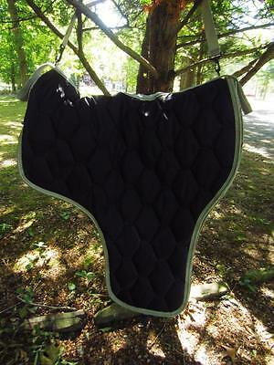 Quilted Padded Saddle Carrier Black with Gray Trim NEW