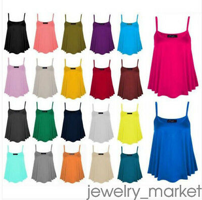Summer Women Sexy Sleeveless Casual Vest Cami Tee Solid Loose Comfy Tank Tops