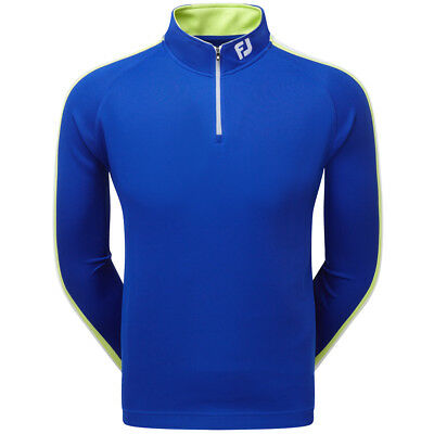 Footjoy Textured Chillout Golf 1/4 Zip Sweater Midnight Blue/Apple Green