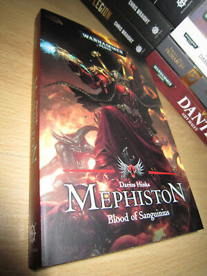 Darius Hinks MEPHISTON: BLOOD OF SANGUINIUS 1st/PB MINT Warhammer 40K