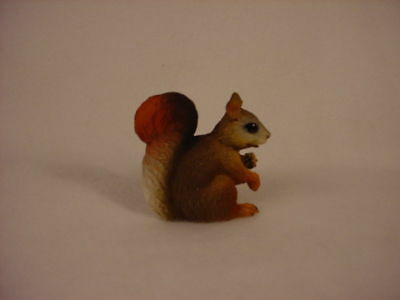 RED SQUIRREL Figurine TiNY ANIMAL resin HAND PAINTED MINIATURE Mini Collectible