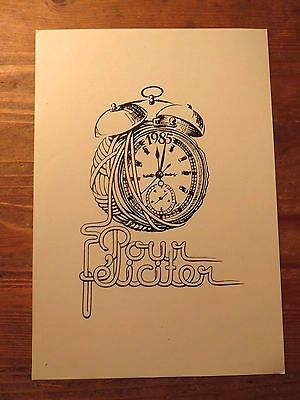1985  Vintage PF New Year Greetings Card