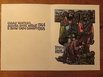 1964 Gianni Mantero  Vintage Christmas&New Year Card