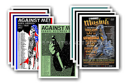AGAINST ME - 10 promotional posters  collectable postcard set # 1