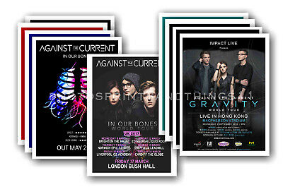 AGAINST THE CURRENT - 10 promotional posters  collectable postcard set # 1