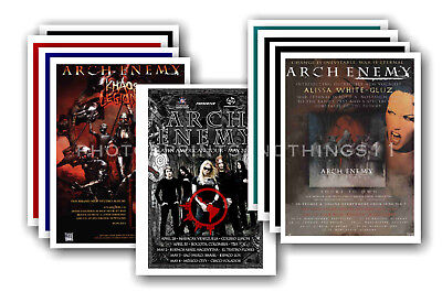 ARCH ENEMY - 10 promotional posters  collectable postcard set # 1