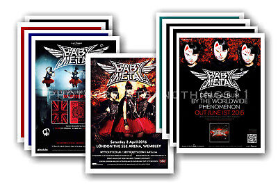BABYMETAL - 10 promotional posters  collectable postcard set # 1