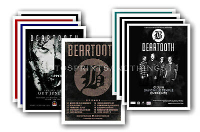 BEARTOOTH - 10 promotional posters  collectable postcard set # 1