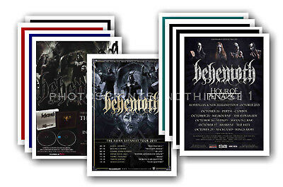 BEHEMOTH - 10 promotional posters  collectable postcard set # 1