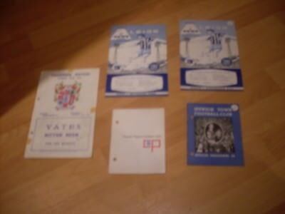 5 football  programmes from the 60s
