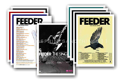 FEEDER - 10 promotional posters  collectable postcard set # 1