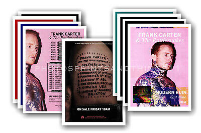 FRANK CARTER & RATTLESNAKES 10 promotional posters  collectable postcard set # 1