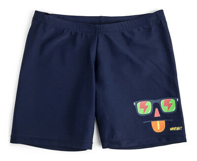 WaveRat Boys' I'm Looking At You Placement Print Trunk - Navy