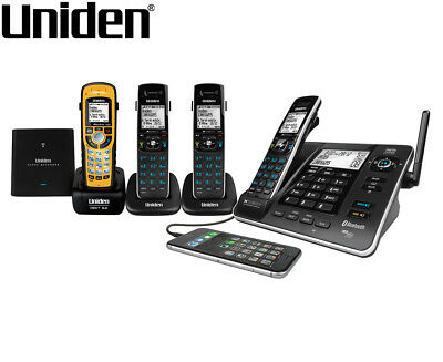 Uniden XDECT 8355+3WPR Integrated Bluetooth Digital Cordless Phone System - Blac