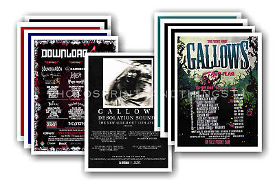 GALLOWS - 10 promotional posters  collectable postcard set # 1