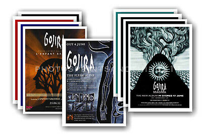 GOJIRA - 10 promotional posters  collectable postcard set # 1