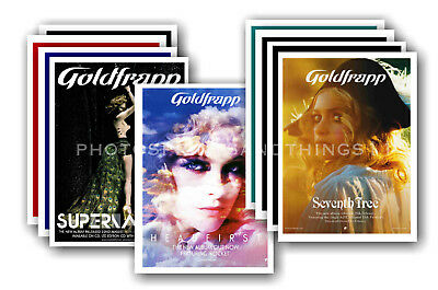 GOLDFRAPP - 10 promotional posters  collectable postcard set # 1