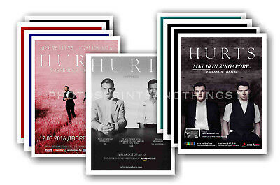 HURTS - 10 promotional posters  collectable postcard set # 1