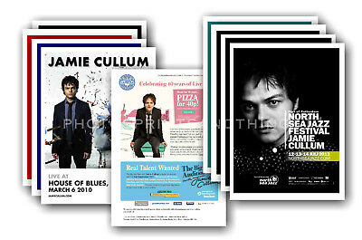 JAMIE CULLUM - 10 promotional posters  collectable postcard set # 1